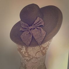 Gray floppy hat with gray bow Gray floppy hat with gray bow Accessories Hats