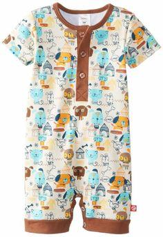 4236131619c8 Zutano Baby-Boys Infant Woof Club Henley Bodysuit and Sun Hat Set