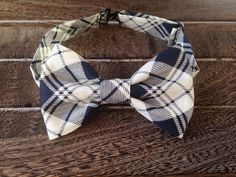 Navy and White Bow Tie by BrileyBean on Etsy