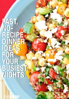 Busy night? Here are some recipe ideas for you that are simple and fast!