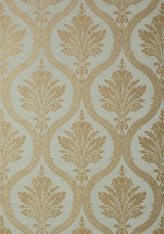 CLESSIDRA, Metallic Pewter on Grey, T89160, Collection Damask Resource 4 from Thibaut