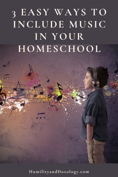 3 Easy Ways to Incorporate Music in your Homeschool - Humility and Doxology Homeschool Curriculum Reviews, Curriculum Planning, Homeschooling, Music Writing, Reading At Home, Online Lessons, Music Activities, Music For Kids, Teaching Music