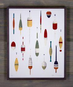 Grandpa's Bobbers Screen Print by Arsenal Handicraft