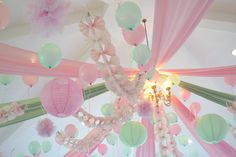 First Birthday Party of my niece.  Shabbic Chic in Mint Green and Pink