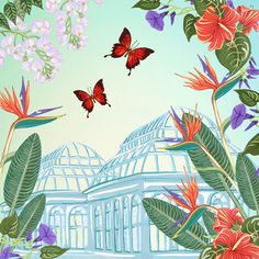 Butterflies and tropical loveliness by Charlotte Day