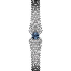 BRACELET  Platinum, one 26.98-carat cushion-shaped sapphire, brilliants.