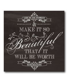Loving this 'Make It So Beautiful' Canvas on #zulily! #zulilyfinds