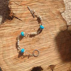 🆑NEW Turquoise chain bracelet New never worn sterling KatDJewelry Jewelry Bracelets