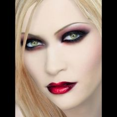"""""""Blonde Vampire"""" created using TAAZ Virtual Makeover. Try on Hairstyles, Makeup, and color your own hair. It's free!"""