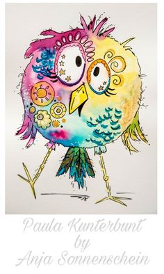21 trendy ideas for bird doodle watercolor, # for You are in the right place about Birds Watercolor Bird, Watercolor Paintings, Watercolor Ideas, Watercolor Portraits, Bird Doodle, Zen Doodle, Art Fantaisiste, Art Mignon, Funny Birds