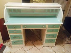 Roll Top Desk Makeover 44 Fascinating Ideas On Roll Top Desk Makeover. Refinished Desk, Refurbished Furniture, Repurposed Furniture, Shabby Chic Furniture, Desk Makeover, Furniture Makeover, Diy Furniture, Dresser Makeovers, Dining Room Inspiration