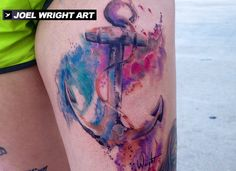 Watercolor Anchor Tattoo Video