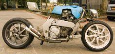 Roel Scheffers Yamaha GTS  Honda RC30 wheels  proper fuctup