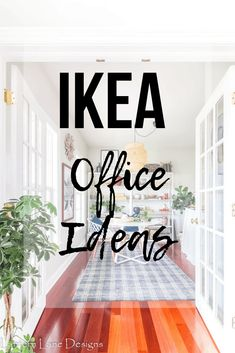 IKEA office ideas-Easy and affordable ways to decorate your home office using products from IKEA Ikea Home Office, Home Office Design, Family Room Decorating, Decorating On A Budget, Interior Decorating, Interior Design, Diy Home Accessories, Bridal Accessories, Ikea Decor