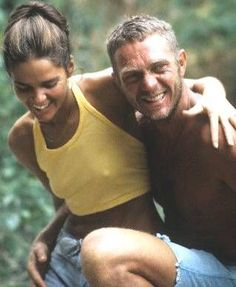 Ali MacGraw and Steve McQueen, the original (and far superior) Brad and Angelina
