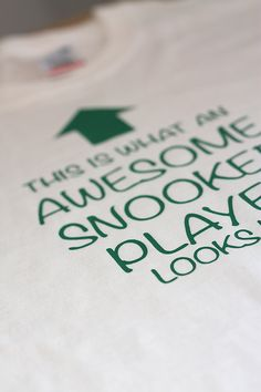 Awesome Snooker Player T-Shirt