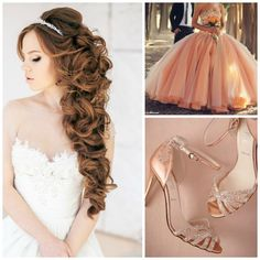 Coral Quinceanera | Color Combinations | Color themed Quinceanera | Quinceanera Ideas | Quinceanera Hairstyle | Quinceanera Makeup | Quinceanera Heels |