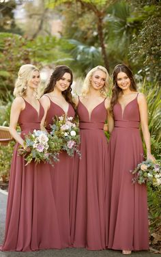 Sorella Vita Bridesmaid Dresses This formal bridesmaid dress from Sorella Vita is a total stunner! A plunging, slightly curved V-neckline is feminine and figure-flattering—complete with an illusion tu Sorella Vita Bridesmaid Dresses, Formal Bridesmaids Dresses, Bridesmaid Dress Colors, Wedding Bridesmaids, Cute Bridesmaid Dresses, Chiffon Bridesmaid Dresses, Autumn Bridesmaids, Bridesmade Dresses, Formal Dresses