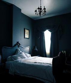 black bedroom.