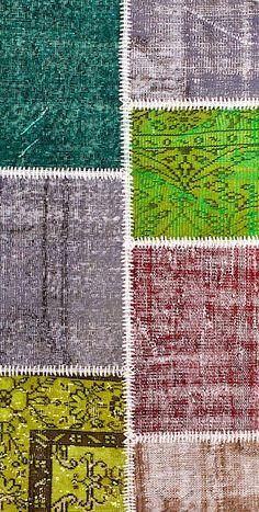 Vintage Patchwork Teppich - mozaiik Unikat Nr. 135TP Carpets, Blanket, Crochet, Design, Scrappy Quilts, Vibrant Colors, Vintage Rugs, Handarbeit, Farmhouse Rugs