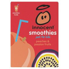 Innocent Kids Peach And Passion Fruit Smoothie 4 X 180 Ml - Groceries - Tesco Groceries