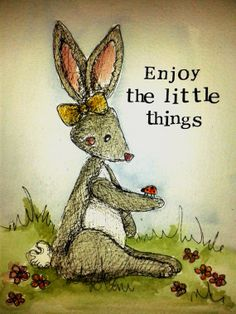 Enjoy the little things by MyPaintedBear on Etsy, £20.00