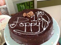 Chocolate baby birthday cake