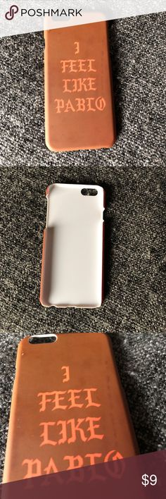 iPhone 6/6s PABLO CASE iPhone 6/6s PABLO CASE, gently used, soft matte feel on outer, plastic on inside, excellent condition Accessories Phone Cases