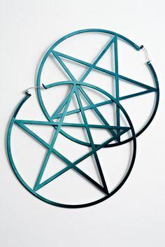 fall 2011 Pamela Love pentagram earrings
