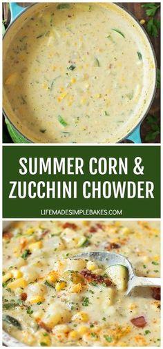 Summer Corn and Zucchini Chowder