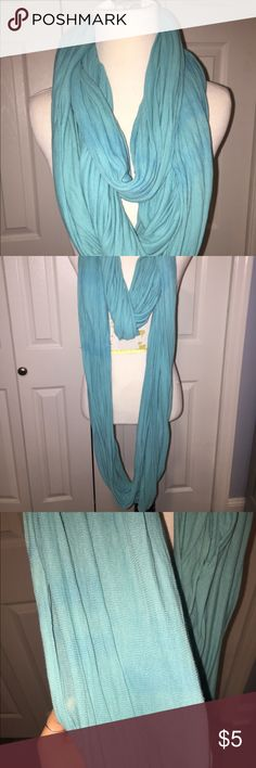 """American Apparel Infinity Scarf American Apparel infinity scarf - LIGHT BLUE/ """"Santorini blue""""  Light jersey knit material- EXTRA LONG. Can loop around 3 times to fit comfortable around the neck or 4 times to be extra snug and warm. American Apparel Accessories Scarves & Wraps"""