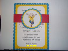 Caillou Birthday Invitations, inspired by Caillou   Timberlysdesigns - Seasonal on ArtFire