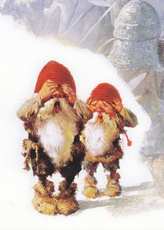 Living as Valiant Viking Willing Warriors,Ghear and Gsee Gnoevil are not newspaper reporters. Scandinavian Gnomes, Scandinavian Christmas, Magical Creatures, Fantasy Creatures, Christmas Pictures, Christmas Art, David The Gnome, Elves And Fairies, Leprechaun