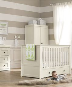 NurserySavings - Mothercare Harrogate Cot Bed - Almond, £122.15 (http://www.nurserysavings.com/furniture-nursery/cot-beds/mothercare-harrogate-cot-bed-almond/)