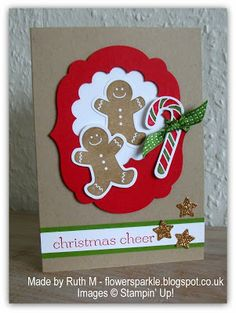 Flower Sparkle: Gingerbread Christmas Cheer Card