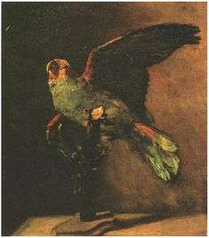 Vincent van Gogh Green Parrot, The Painting