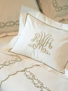 Camilla Custom Embroidered Bed Linens By Hamburg House