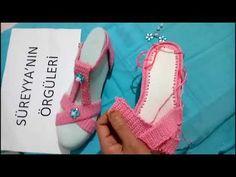 Keçeden Tığ İşi Sandalet Patik Yapımı - YouTube Crochet Flower Tutorial, Crochet Flowers, Free Pattern, Flip Flops, Shoes, Crochet Slipper Pattern, Groomsmen, Recipes, Shoes Sandals