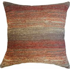 Better Homes & Gardens Spice Stripe Decorative Throw Pillow, 22 inch x 22 inch, Red Large Couch Pillows, Decorative Throw Pillows, Better Homes And Gardens, Primitive Homes, Chenille Fabric, Accent Pieces, Really Cool Stuff, Living Room Decor, Bedroom Decor