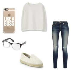 """""""Untitled #21"""" by kennadiniles ❤ liked on Polyvore featuring MANGO, Casetify, rag & bone, Charlotte Russe and Manebí"""