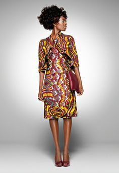 Work day African prints. These vibrant prints go everywhere.