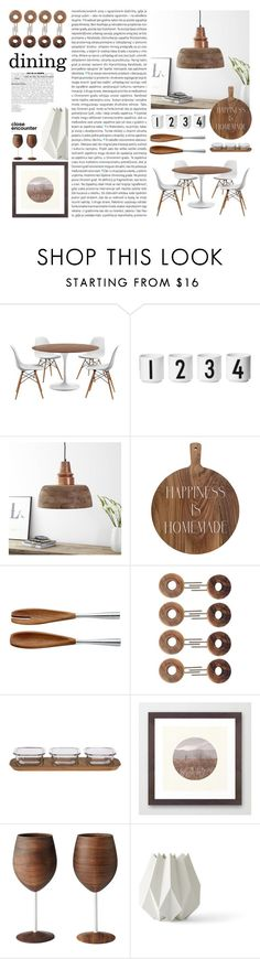 """Dining Room - White Vs Wooden Textures"" by by-jwp ❤ liked on Polyvore featuring interior, interiors, interior design, home, home decor, interior decorating, Oris, Design Letters, Dansk and Schmidt Brothers"