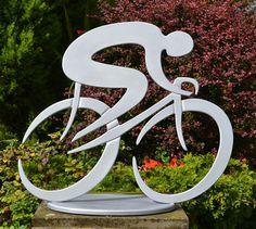 cycle sculpture, cyclist, tour de france sculpture, cycle racing art, bike art, bicycle sculpture metal, present for cyclists, sculpture racing bike, sculpture road race, cycle road race art. giro art, cycling sculpture