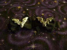 Mini Bat Hair Bows by Th1rte3nsCloset on Etsy, $6.00