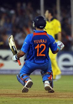 Indian batsman Yuvraj Singh celebrates after victory in the quarter-final match . Indian batsman Yuvraj Singh celebrates after victory in the quarter-final match of The ICC Cricket World Cup 2011 be India Cricket Team, Icc Cricket, Cricket Sport, Cricket World Cup, Cricket Match, Cricket News, Ms Dhoni Wallpapers, Yuvraj Singh, Cricket Wallpapers