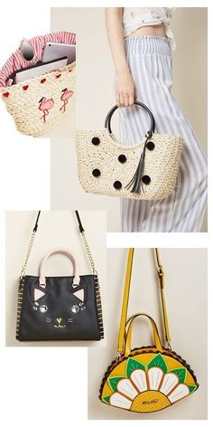 f0adf27739 Fun Beach Bag Straw Tote  Cat Tote   Sunflower Leather Bag  Flamingo  Tote Spark Polka Dot  gift