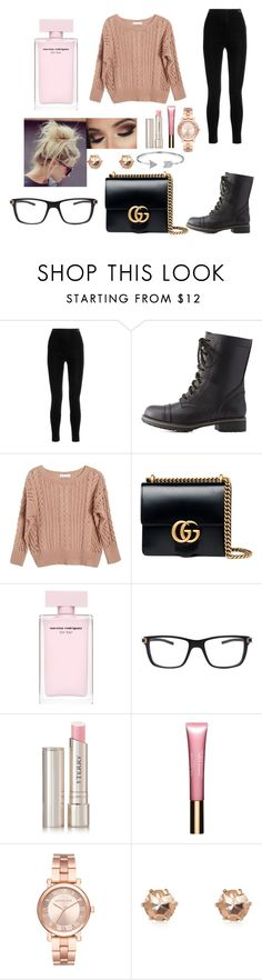 """""""His Smile Though😊💖"""" by haileywilkins1 ❤ liked on Polyvore featuring Balmain, Charlotte Russe, Ryan Roche, Gucci, TAG Heuer, By Terry, Clarins, Michael Kors and Bling Jewelry"""