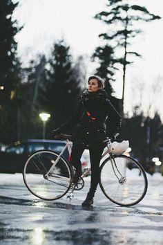 Winter Biking Chic