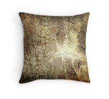 Brown Crackle Throw Pillow
