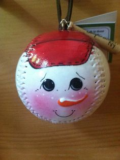 Snowball Baseball Ornament by cooperstownsantaco on Etsy, $15.00